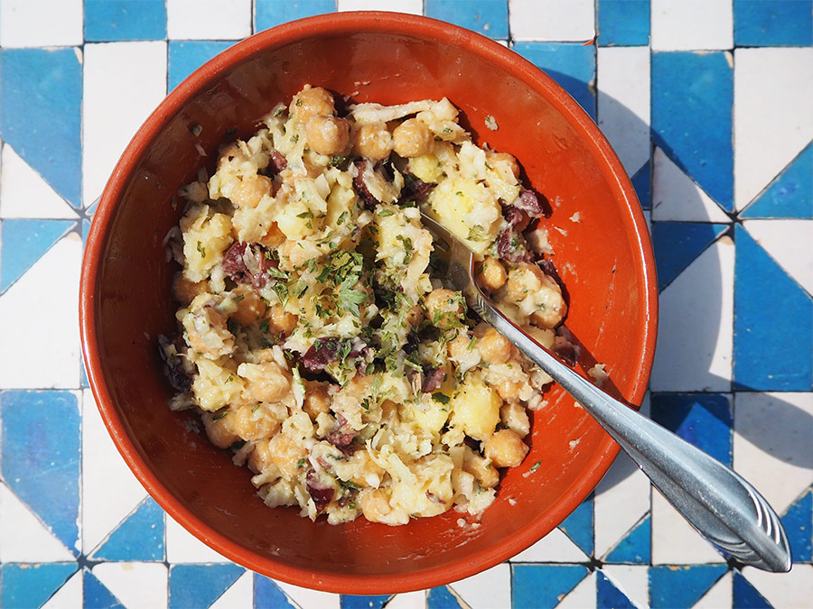 Salada de Bacalhau e Grão de Bico